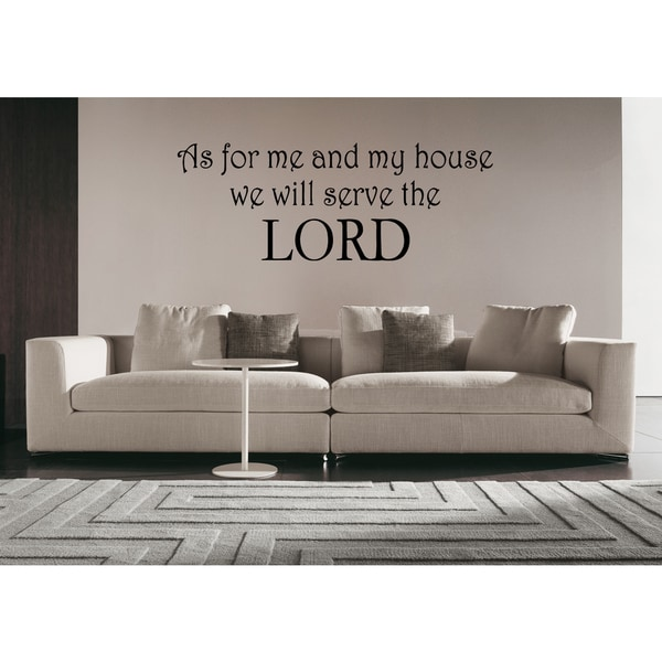 We Will Serve the Lord quote Wall Art Sticker Decal