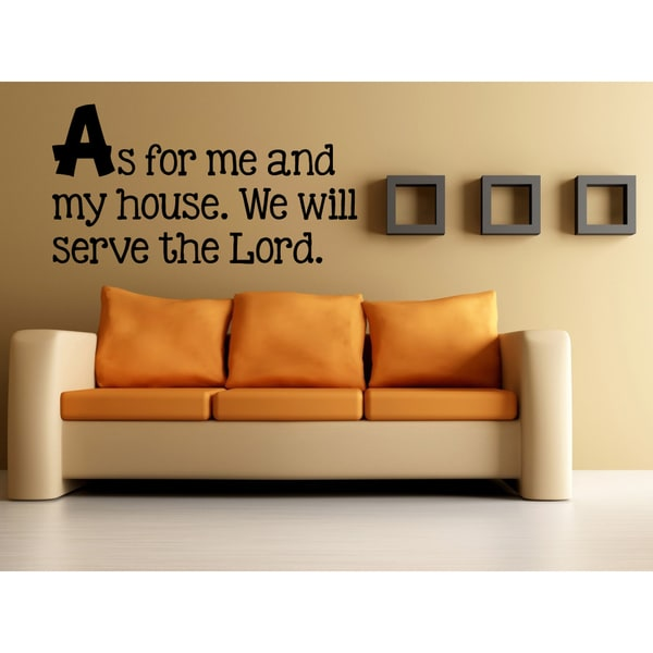 We Will Serve the Lord Wall Art Sticker Decal