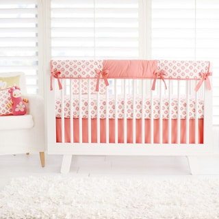 New Arrivals Aztec In Coral Crib Rail Cover