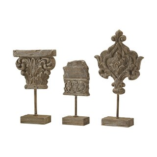 Dimond Home Set of 3 Auvergne Finials In Aged Corbel Stone