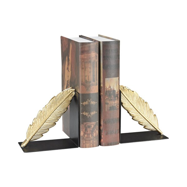Dimond Home Ferrier Bookends In Gold And Black