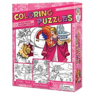 Coloring Puzzles - Fairy Tale Princesses: 24 Pcs