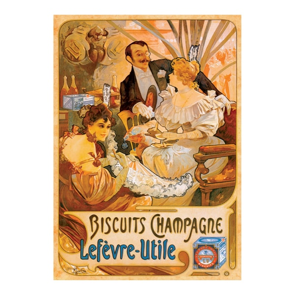Biscuits Champagne Vintage Poster Jigsaw 1000-piece Puzzle