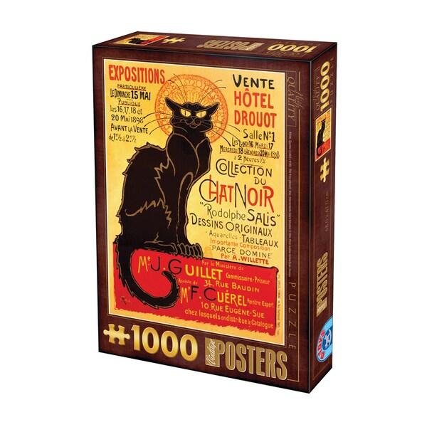 Chat Noir Vintage Poster Jigsaw 1000-piece Puzzle
