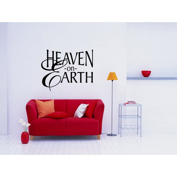 Home Heaven on Earth quote Wall Art Sticker Decal