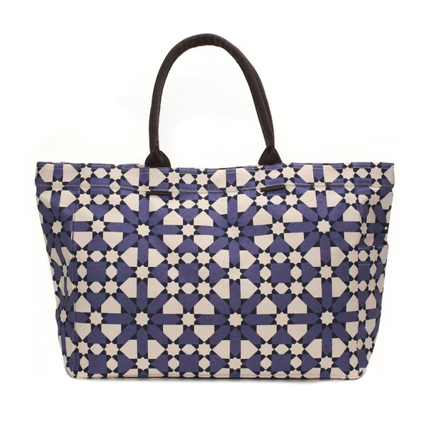 Deep Purple Flower Tote Bag