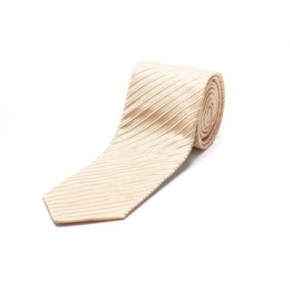 Versace Light Gold Silk Necktie