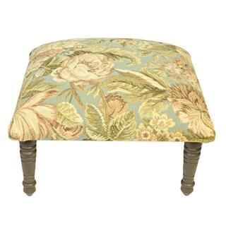 Corona Décor Flora Design Hand Woven Mint Footstool