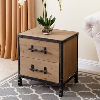 Abbyson Living Northwood Industrial 2-drawer Nightstand