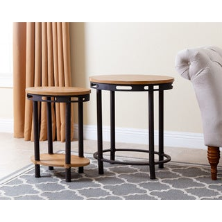 Abbyson Living Northwood Industrial End Table (Set of 2)