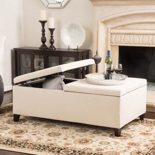 Christopher Knight Home Alfred Fabric Medium Storage Ottoman Bench