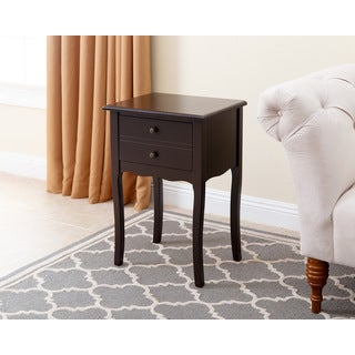 Abbyson Living Larsa Tea Espresso End Table