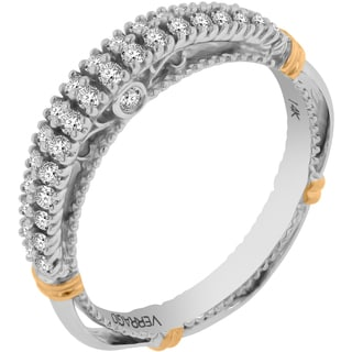 Verragio 14k Two-tone Gold 2/5ct TDW Diamond Wedding Band (F-G, VS1-VS2)