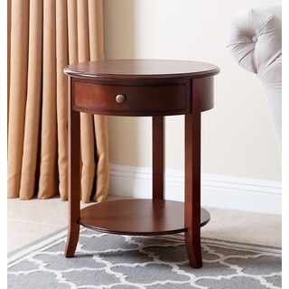 Abbyson Living Carson Single-drawer Wood End Table