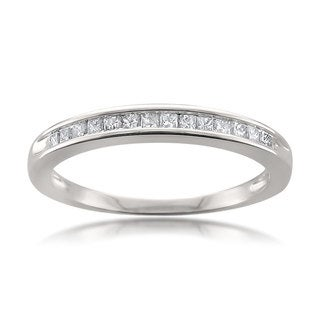 Montebello 14k White Gold 1/4ct TDW White Diamond Wedding Band (H-I, I1-I2)