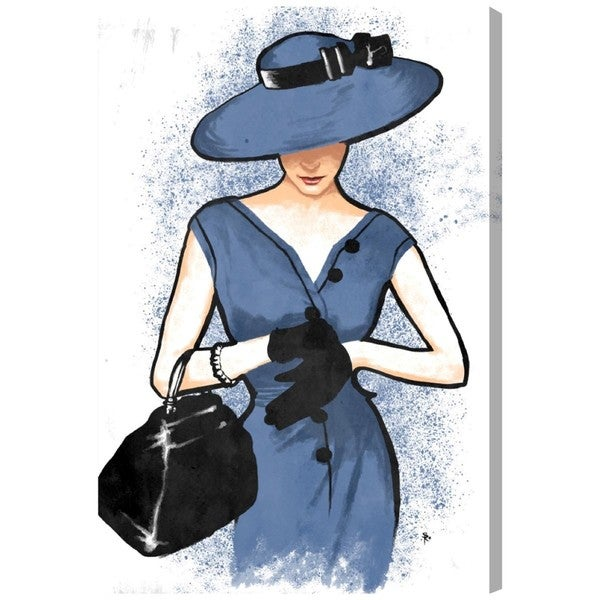 Lady in Blue' Canvas Art