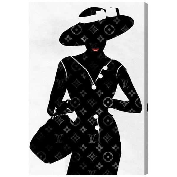 Silhouette of a Lady' Canvas Art