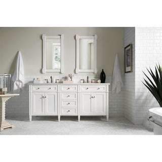 Cottage White Brittany 72-inch Double Cabinet