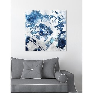 Oliver Gal 'Blue Flower Scent' Fashion and Glam Wall Art Canvas Print - Blue, White