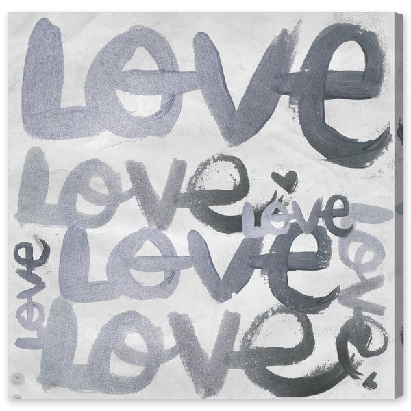 Four Letter Word Silver' Canvas Art
