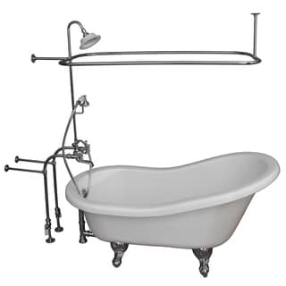 Barclay Universal 67-inch Tub Kit with Acrylic Slipper, Shower Unit, Supplies & Drain