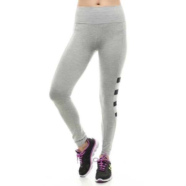 Stretch Seamless Leggings With Four Mesh Panel On Both Side