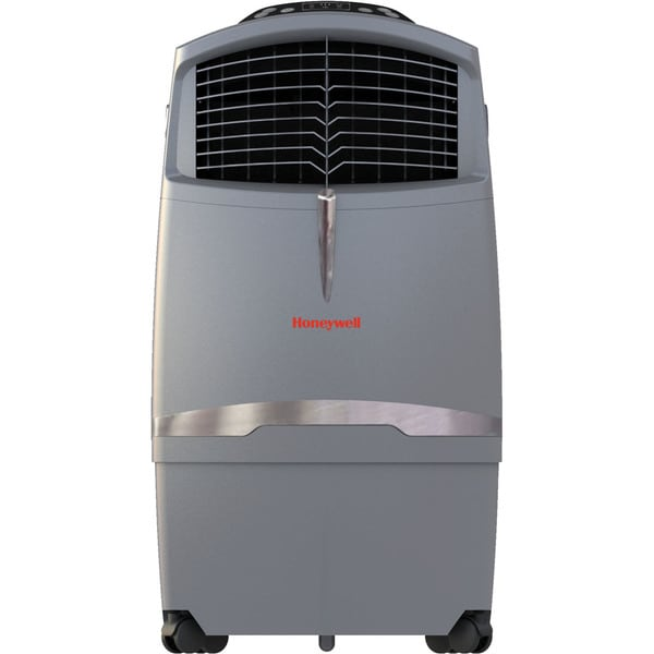 Honeywell CO30XE 63 Pint Indoor/Outdoor Portable Evaporative Air Cooler With Remote Control, Gray 1127375