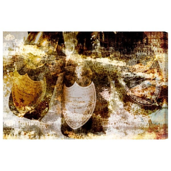 Champagne Bath Brass' Canvas Art