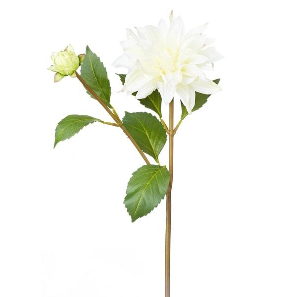 White 17-inch Dahlia Stem (Pack of 6)