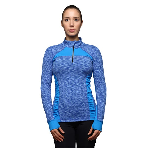 Women's 1/4 Zip Climalite Pullover Active Jacket With Colorblock Panel