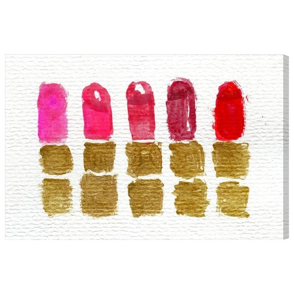 Lipstick Shades' Canvas Art