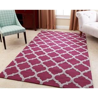 Abbyson Living Hand-tufted Vera Plum New Zealand Wool Rug (8' x 10')