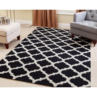 Abbyson Living Hand-tufted Vera Black New Zealand Wool Rug (8' x 10')