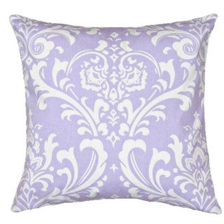 18-inch Square Lavender Damask Pillow Cover