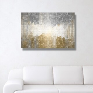 Oliver Gal 'Amantes' Abstract Wall Art Canvas Print - Gold, Gray