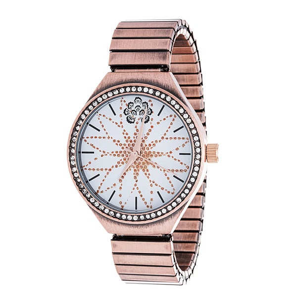 WallFlower Strech Ladies Collection with Copper Alloy Strap CZ Watch
