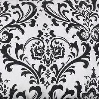 Girly White Background w/ Black Flowers Fabric (3 yards)