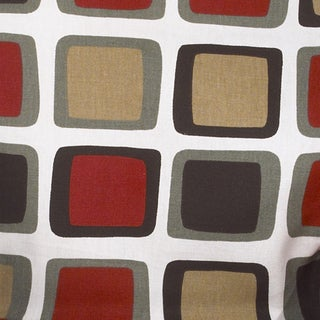 Houndstooth White Background w/ Square Print Fabric (3 Yards)