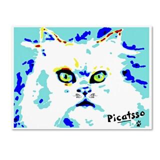 Lowell S.V. Devin 'Picatsso the Meowdern Wall Art Cat' Canvas Wall Art