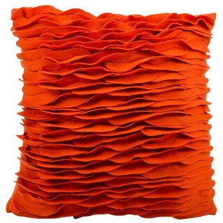 "Mina Victory by Nourison Felt Burnt Orange Throw Pillow (18"" x 18"")"
