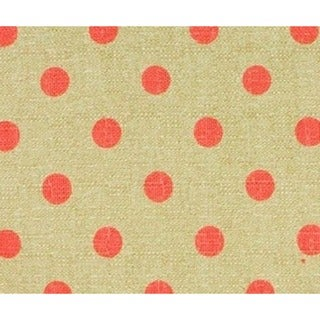 Raspberry Dot Light Tan Background Dark Pink Dot Print Fabric (3 Yards)