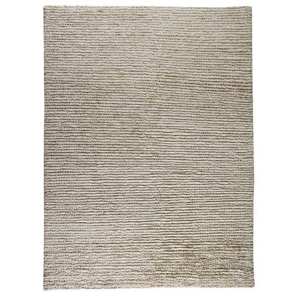 Hand-woven Nature White Rug (5'6 x 7'10) 17749483