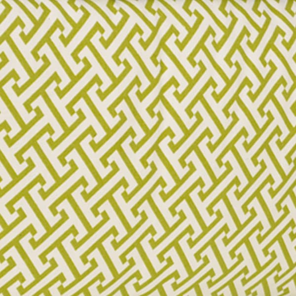 Periwinkle Green Geometric Print Fabric (3 Yards)