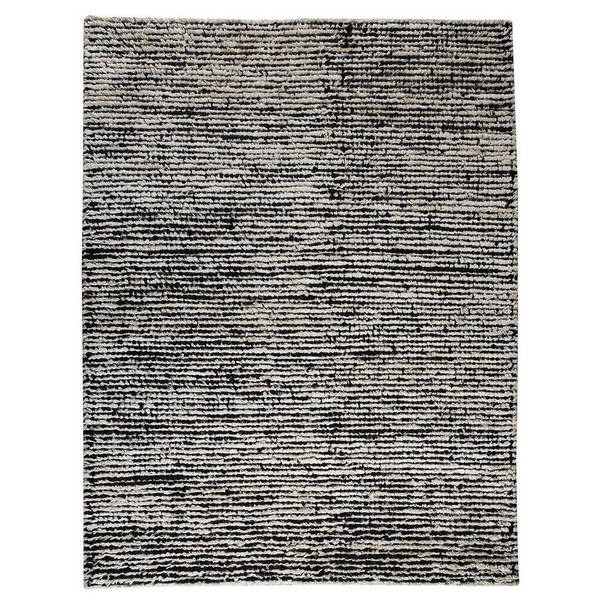 M.A.Trading Hand-woven Nature White/ Black Rug (5'6 x 7'10) (India) 17749613