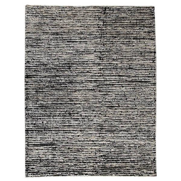 Hand-woven Nature White/ Black Rug (5'6 x 7'10) 17749613