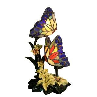 Ivonne 2-light Butterfly 12-inch Tiffany-style Garden Table Lamp