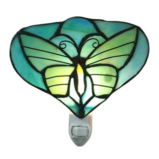 Briandy 1-light Green Butterfly 6-inch Tiffany-style Night Light
