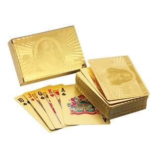 Ben Franklin 24K Gold Foil Playing Cards