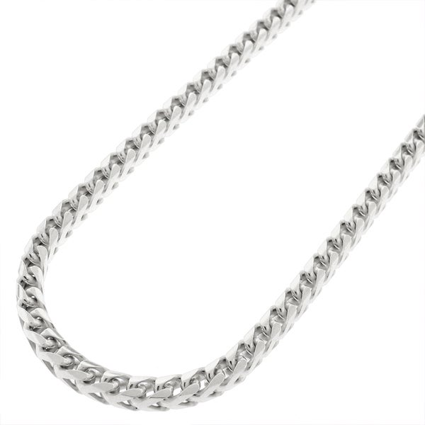 Sterling Silver 2mm Solid Franco Necklace