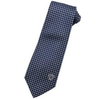 Versace 100-percent Italian Silk Blue Pattern 3-inch Wide Neck Tie